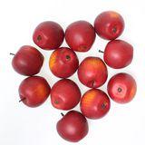 12 Äpfel künstlich rot 46mm Herbst Advent Deko Apfel Obst