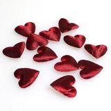800 Herzen aus Stoff glänzend soft ca. 12mm x 13mm Streudeko Streuherzen