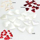 100 Herzen aus Stoff glänzend soft ca. 28mm x 32mm mit Klebepunkt Streudeko Streuherzen