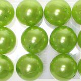 12 x Kunstperle 20mm Perlen Wachsperlen Dekoperlen Bastelperlen mit Loch Kunstperlen