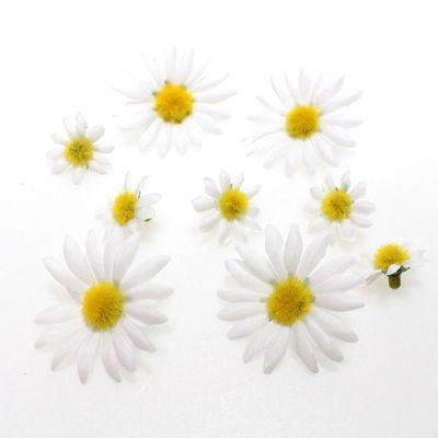 200 Margeritenköpfe sortiert 2cm +4cm Streudeko Blume Margerite künstlich