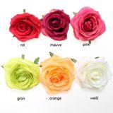 12 x Rosenkopf Rose D 9cm künstlich Seidenblume Kunstblume Deko