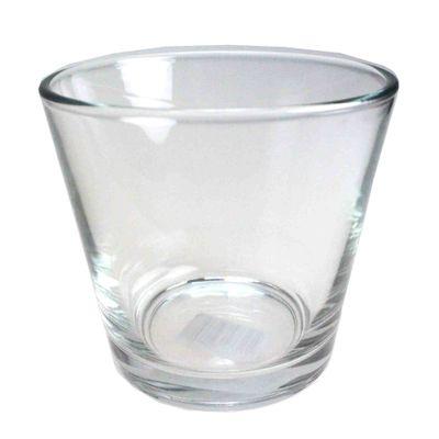 Windlicht konisch Glas klar Ø10cm H9cm Teelichtglas Teelichthalter Kerzenglas