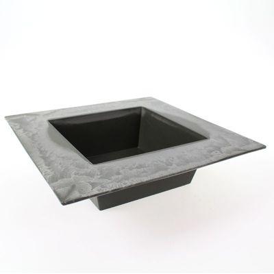 Pflanzgefäß eckig quadratisch Kunststoff anthrazit 20x20xm