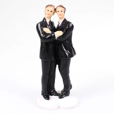 Hochzeitspaar Männer H ca. 11,3cm Polyresin homosexuell