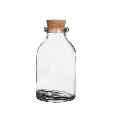 10 x Glasflasche mit Korken mini H 6cm Ø 3cm Flasche Glas 25ml