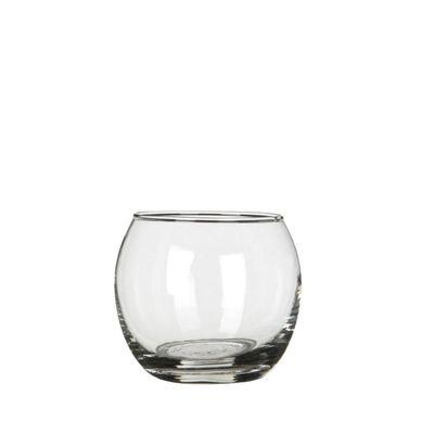 Windlicht Glas klar Kugel H 7cm D 8cm
