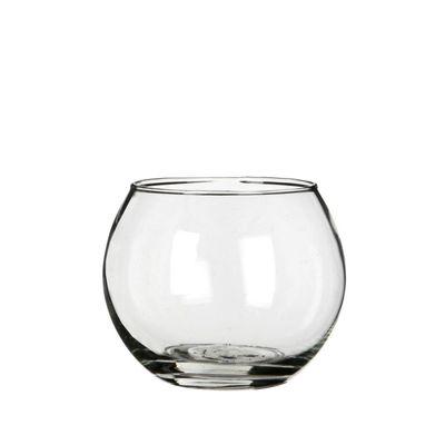 Windlicht Glas klar Kugel H 8cm D 10cm