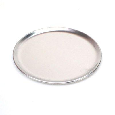 1 Teller aus Aluminium 20cm silber Dekoteller