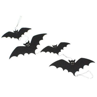 Girlande Fledermaus Filz schwarz 100cm Halloween