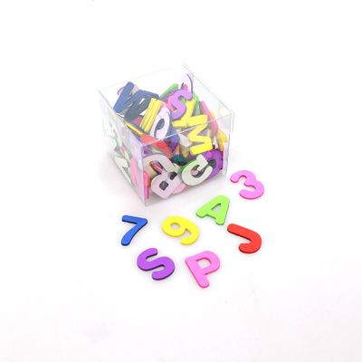 108 Zahlen Buchstaben Mix bunt Streudeko Moosgummi Einschulung ABC