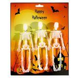3 Skelette 15cm leuchten im Dunkeln Kunststoff Halloween glow in the dark