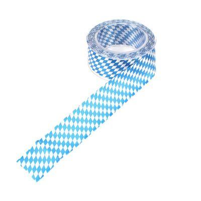 20m Dekoband Bayern Raute B40mm blau weiß Schleifenband
