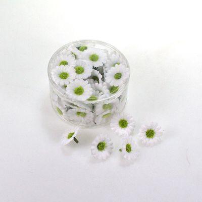 100 Gänseblümchen 3cm weiß Streudeko Blume künstlich Sommer Streudeko Tischdeko