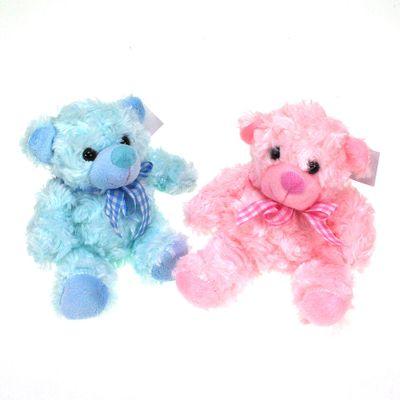 Stoffbär Plüschbar 15cm mit Schleife Teddybär Taufe Geburt Baby