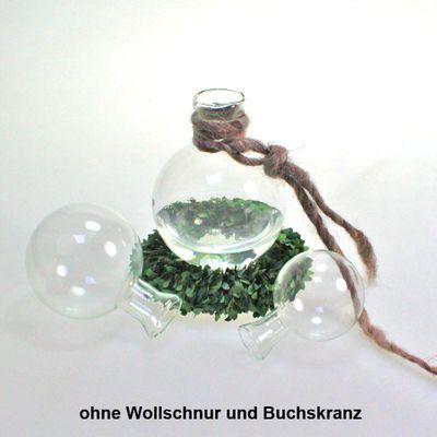 27 Hängevase Ballvase Vase Glas klar  Ø66mm H 90mm Kugelvase