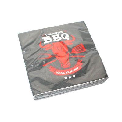 20 Servietten BBQ Barbeque Grillen 3lagig 33x33cm Papier Tissue Serviette Sommer