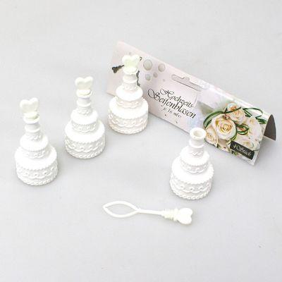 4 Seifenblasen Hochzeitstorte Wedding Bubbles Überraschung Hochzeit Gadget