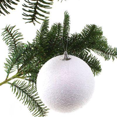 Weihnachtskugel Schneeball 18cm Kunststoff Kugel 180mm Weihnachten Winter Hänger