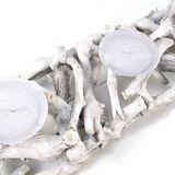 Kerzenhalter L60cm B15cm H9cm Holz white wash Kerzenständer Vintage shabby Äste