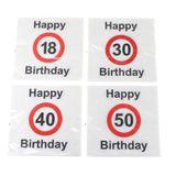 20 Servietten runder Geburtstag 3-lagig 33x33cm Tissue 18 30 40 und 50 Papierservietten