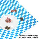 50m × 100cm Tischdecke Bayern Raute weiß blau Duni Papiertischdecke Oktoberfest