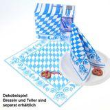 60 Bayern Raute Servietten 40×40cm blau weiß Dunisoft Duni