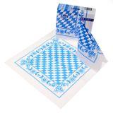 50 Bayern Servietten 33×33cm Raute blau weiß Papierservietten Duni Oktoberfest