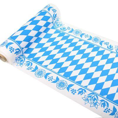 24m Duni Bayern Raute Tischläufer Breite 40cm Tischband Tischdecke Dunicel blau weiß