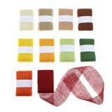 2m × 60mm Juteband Jutesträngchen Geschenkband Gitterband Jute Deko Band