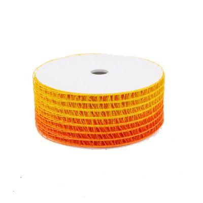 20m × 50mm Gitterband orange gelb Schleifenband Geschenkband Deko Band