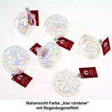 6 Christbaumkugeln Glas Ornamente Hänger Formenmix Set L8,5cm Weihnachtskugeln Kugeln