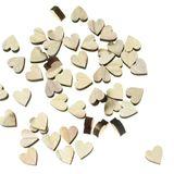 48 Herzen Holz 2,5cm Holzherzen Tischdeko Streuartikel Streudeko