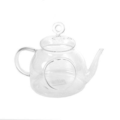 Teekanne Windlicht Glas klar L 15cm H 12cm Ø 10cm für Teelichter Dekokanne