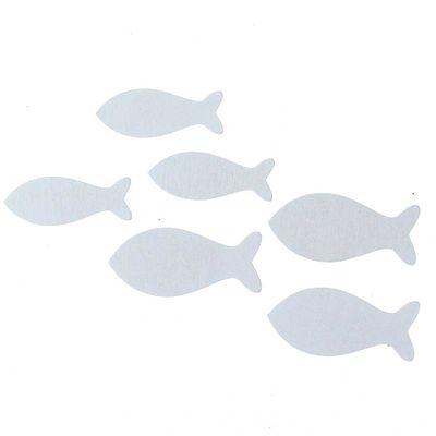 72 Fische Holz Weiß 2 Größen Kommunion Konfirmation Taufe
