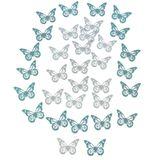 36 Schmetterlinge Holz ca 5x3,5cm Streudeko Frühling Holzschmetterling Butterfly