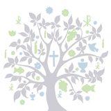 20 Servietten Lebensbaum Kelch Taube 3-lagig 33x33cm Konfirmation Kommunion Serviette