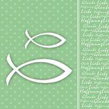 20 Servietten Glaube Liebe Hoffnung 3-lagig 33x33cm Fisch Konfirmation Kommunion Taufe