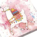 20 Servietten lustiges Lama Alpaka 3-lagig 33x33cm Tissue rosa pink Kaktus Reise
