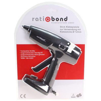 Heißklebepistole Klebepistole rb-12-080 ratiobond schwarz Heißklebegerät 80W