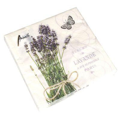 20 Servietten Lavendel 3-lagig 33x33cm Provence Frankreich Paris Garten Kräuter