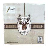 20 Servietten Hirsch Wild Deer 3-lagig 33x33cm Tissue Jagd Reh Herbst Kirchweih