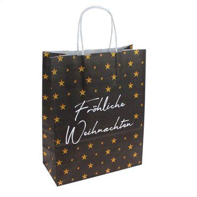 Papiertüte Frohe Weihnachten Geschenktüte Verpackung Tüte Tragetasche Tasche
