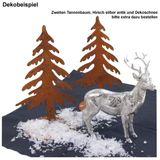 Tannenbaum Edelrost H21cm Weihnachtsbaum Tanne Rost Deko Dekobaum Metall Garten