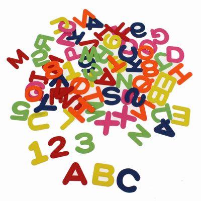 72 Buchstaben Zahlen mix Holz 3-4cm bunt Holzbuchstaben Alphabet Einschulung ABC