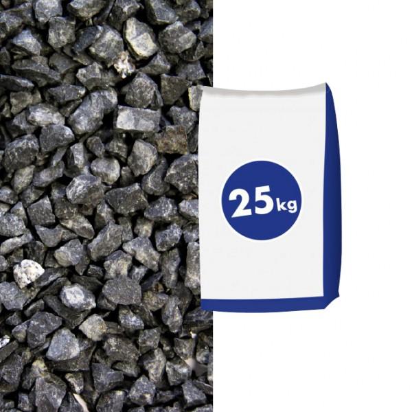 0,42€//1kg Basaltsplitt Eifelschwarz 11–-22mm 25kg Sack