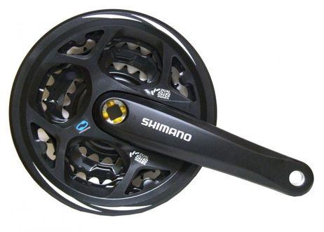 Shimano Kettenradgarnitur Altus 311 48/38/28  170mm schwarz 4-kant