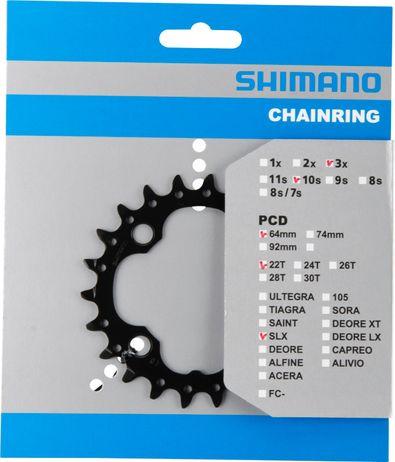 Shimano SLX Kettenblatt 22 Z. 4-Arm LK 64mm für 10-Fach
