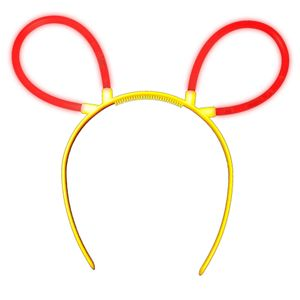 "1 Glow Sticks Bunny Ears Hair Pin RED, Test Score: 1,4 ""VERY GOOD"", Complete Set incl. Glow Sticks u. reusable Hair Pin"