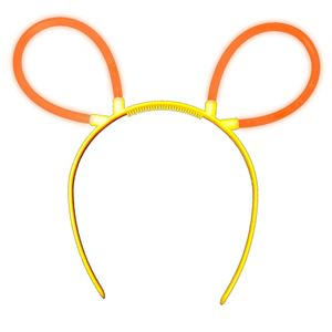 "1 Glow Sticks Bunny Ears Hair Pin ORANGE, Test Score: 1,4 ""VERY GOOD"", Complete Set incl. Glow Sticks u. reusable Hair Pin"
